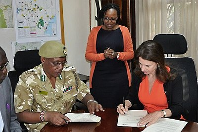 The Kenya Wildlife Service and the WJC join forces against wildlife crime